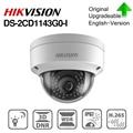 Hikvision DS-2CD1143G0-I POE камера видеонаблюдения 4MP ИК Сетевая купольная камера 30 м IR IP67 IK10 H.265 + слот для карты SD