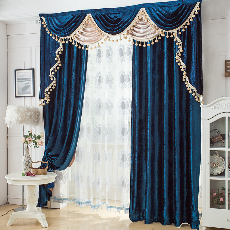 Fashion And Luxurious Noble Solid Color Velvet Curtain