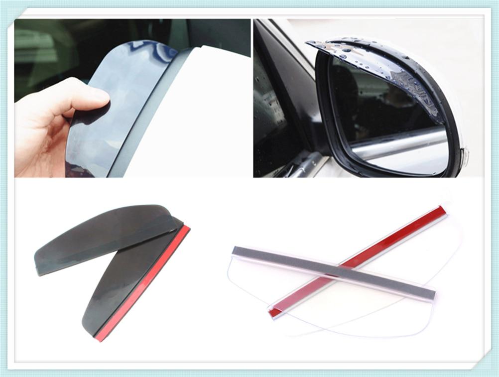 2 pcs retrovisor do carro espelho chuva sobrancelha acessórios aid para Volkswagen Touran PTouareg Beetle CC Magotan