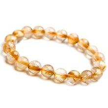 Top Natural Brazil Gold Rutilated Quartz Titanium 10mm Round Beads Bracelet Crystal Woman Man Gemstone Jewelry Lucky AAAA