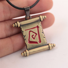 dota 2 alloy necklace with metal pendants fashion popular anime game charming copper color christmas gift for boyfriend