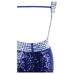 Image 5 - Engel fashions Perlen Vintage 1920S Pailletten Masque Kostüm Ball Prom Kleider Goldene Blau 090