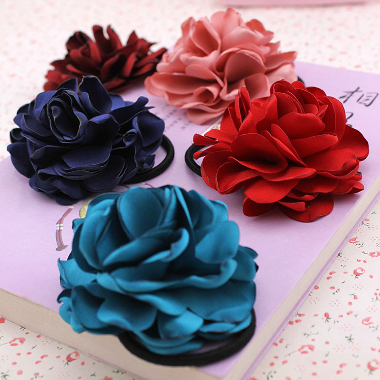 Edition cloth art ornaments headdress flower Camellia hair bands of rose, free home delivery ballscrew support unit fixed side fk15 fk15 c5 black