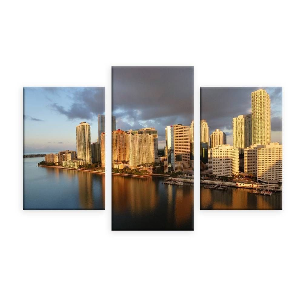 BANMU Wohnkultur Große Bilder Wandkunst Manhattan Stadtbild Leinwanddruck New York Skyline Hudson...