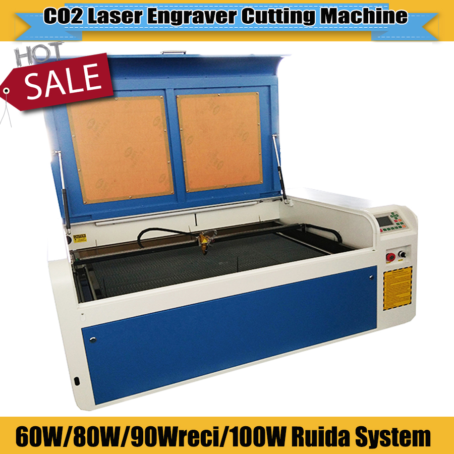 High Speed CNC CO2 Laser Engraving Laser Engraver Cutting Machine 6090 Ruida System Support Rd Works Software