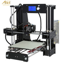 New Anet A6L 3D Printer With Auto Leveling Sensor 2004 LCD Desk FDM DIY Learning Kit