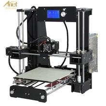 лучшая цена New Anet A6L 3D Printer With Auto Leveling Sensor 2004 LCD Desk FDM DIY 3D Printer Learning Kit