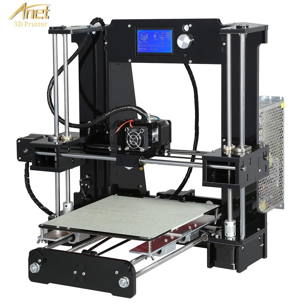 Nouvelle imprimante 3D Anet A6L avec capteur de nivellement automatique 2004 LCD bureau FDM bricolage Kit d'apprentissage imprimante 3D