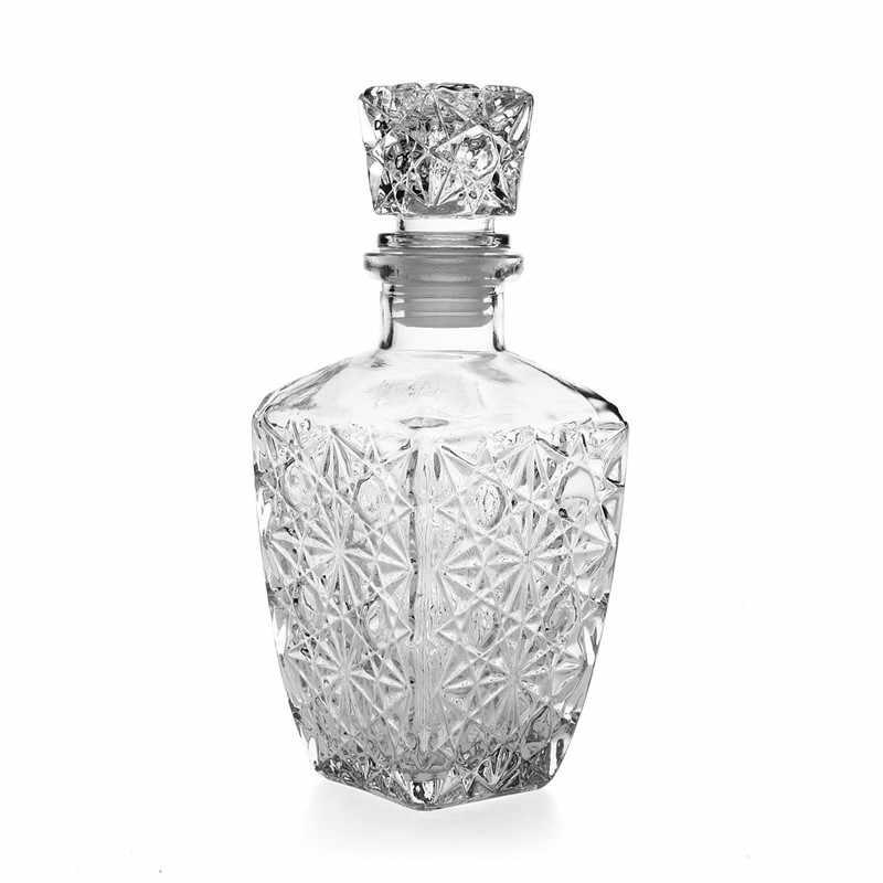 Nuovo Arrivo di Vendita Calda di Lusso di Vetro di Whisky Liquore Vino Bevande Decanter 500ml di Cristallo della Bottiglia di Vino Caraffa Regalo