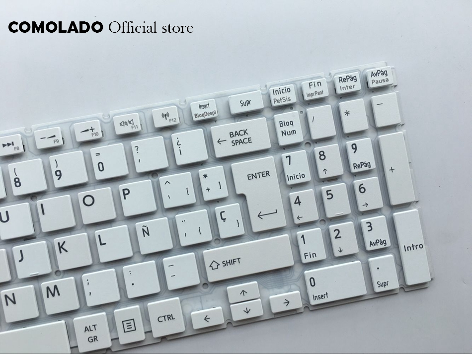 SP Spanish keyboard For Toshiba Satellite L50-B S50-B L50D-B L50T-B L50DT-B L55(D)-B S55-B S55T-B S55D-B white keyboard SP Layout (2)