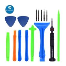 цена на PHONEFIX 15 IN 1 Mobile Phone Repair Tool Set Hand Tools 6 IN 1 Screwdrivers Set Plastic Spudger Set Thin Blade Pry Tools kit