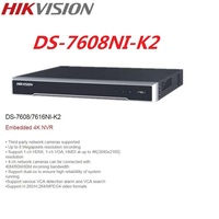 Orginal Hikvision DS 7608NI K2 English 8CH NO POE Version 4K H.265 NVR Network Video Recorder supports 2 pieces HDD