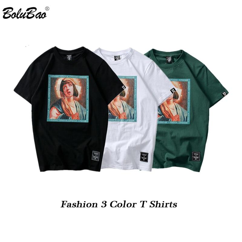 BOLUBAO Virgin Mary Men T-Shirts 2019 Summer Brand Male  100%Cotton Fashion Tee Shirt Men's Streetwear Short Sleeve T Shirt