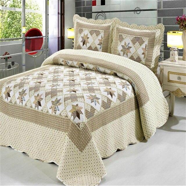 Couette Dessus De Lit 100%cotton bedspread queen bed spread bed cover pillowcase sofa