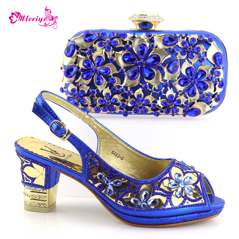 Italian Shoes with Matching Bags 2018 African silver Shoe and Bag Set Italian Design African Shoes and Bag Set ds010 newest silver african matching shoes and bag set beautiful design european ladies slipper and bags sets free shipping