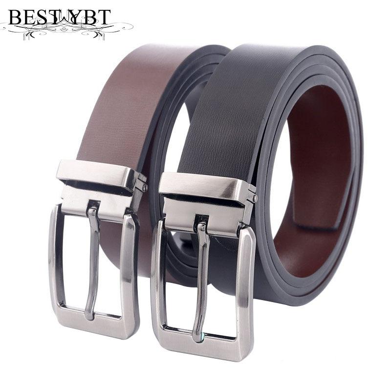 Best YBT Men belt fashion simple high quality Alloy pin buckle belt Business affairs cas ...