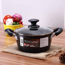 20 22 24 cm ears thickened general USE Creative Soup Pot Fruit Pan non-stick no fumes Kitchen Tools Cookware stew noodle pot(China)