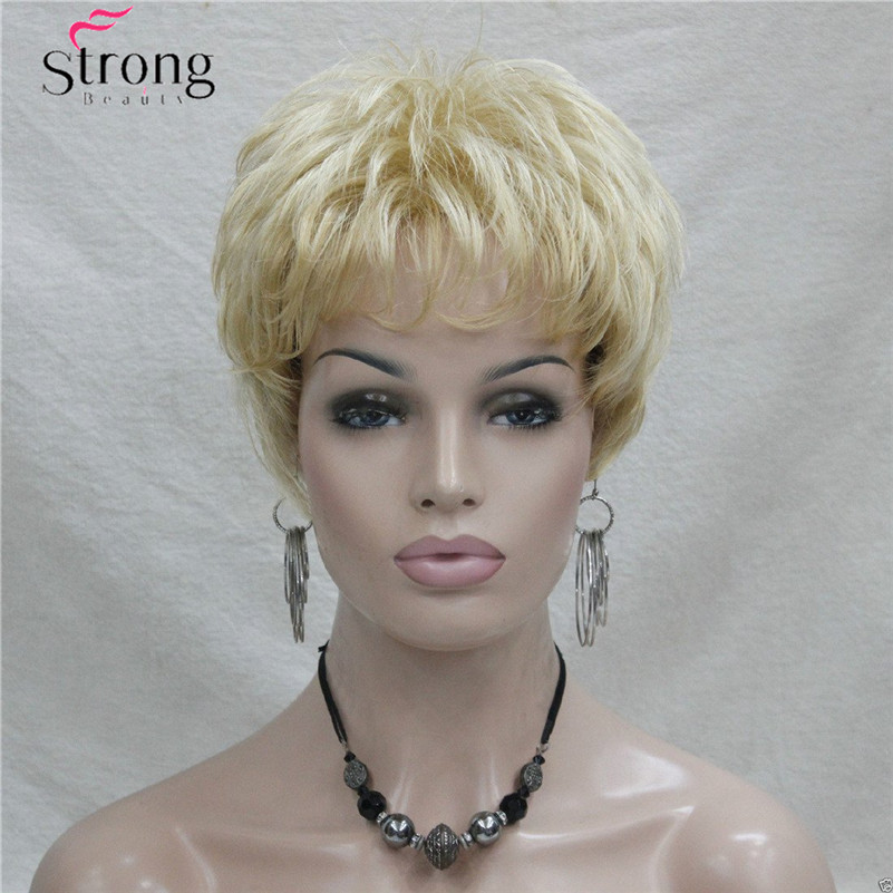 Image 2 - Short Golden Blonde Synthetic Hair wig For Women COLOUR CHOICESwigs for womenwig wigwig short -