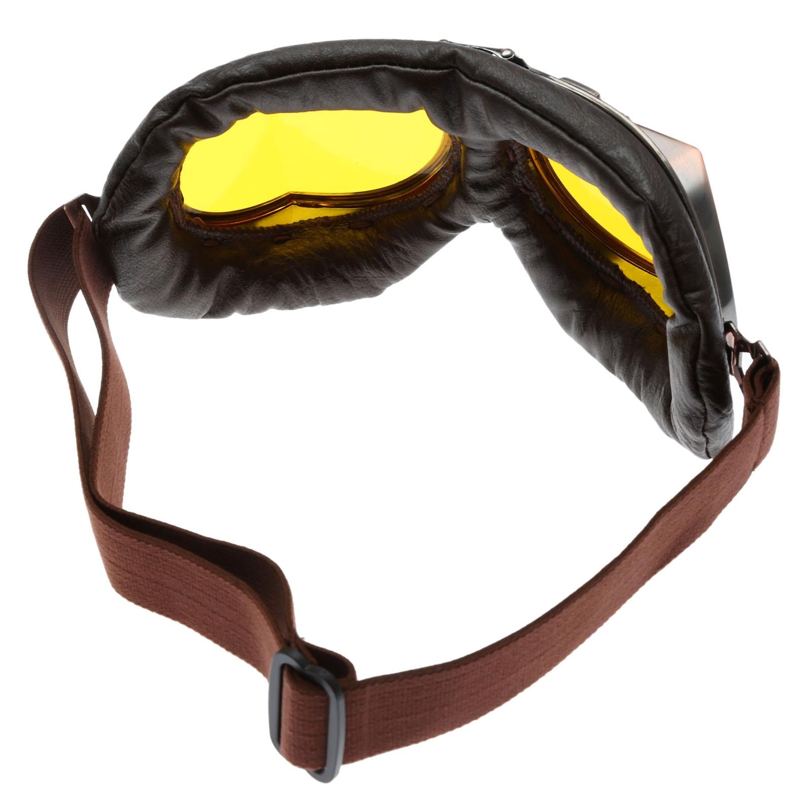 Motocicleta Gafas Gafas Vintage Motocross Gafas Clásicas Retro - Accesorios y repuestos para motocicletas - foto 3