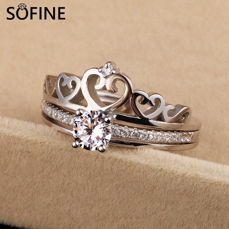 SOFINE Kombinált leválasztható korona nyitott Gyűrűk női - Finom ékszerek