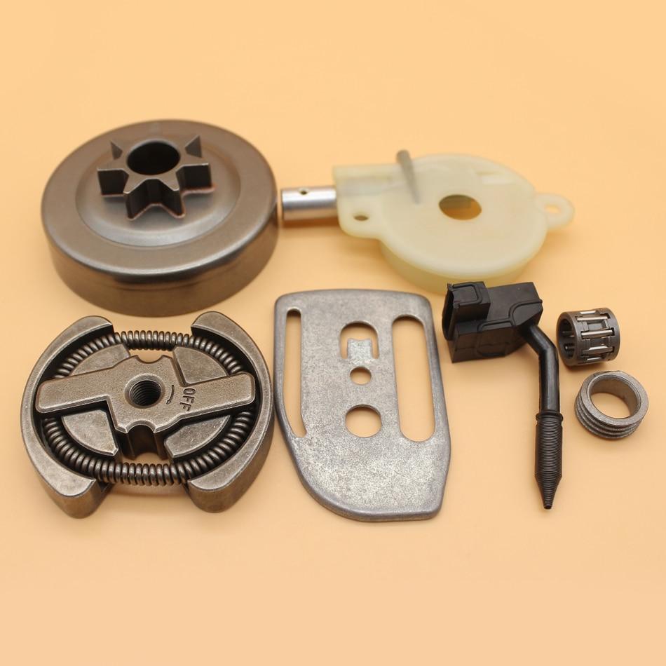 .325 7T Clutch Drum Oil Pump Worm Gear Bar Plate Kit For Husqvarna 136 137 141 142 36 41 Chainsaw 530069342 / 530014949