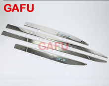 ФОТО Stainless Steel Car Body Scuff Strip Side Door Molding Streamer Cover Trim  Mazda Cx5 Cx-5 2018 Car Accessories