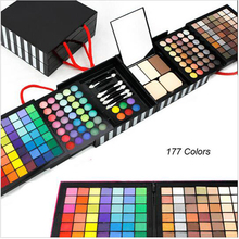 Professional Eye Shadow Powder Blush Palette 177 Color Cosmetics Makeup Eyeshadow With make up Gift Set Sponge & Mirror P177
