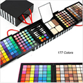 Profissional sombra em pó Blush paleta 177 cores maquiagem cosméticos sombra com maquiagem Gift Set esponja & espelho P177