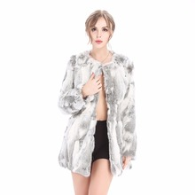 QIUSHAN ZY81034-1 Rabbit Fur Real Fur Coats For Women Winter Autumn Fur Vest Over