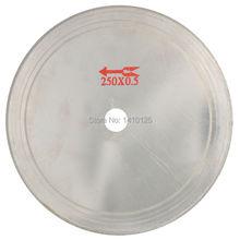 купить 10 inch Super-Thin Arbor Hole 25mm Rim 0.65mm Diamond Lapidary Saw Blade Cutting Disc Saving in Material for Jewelry Gems Agate дешево