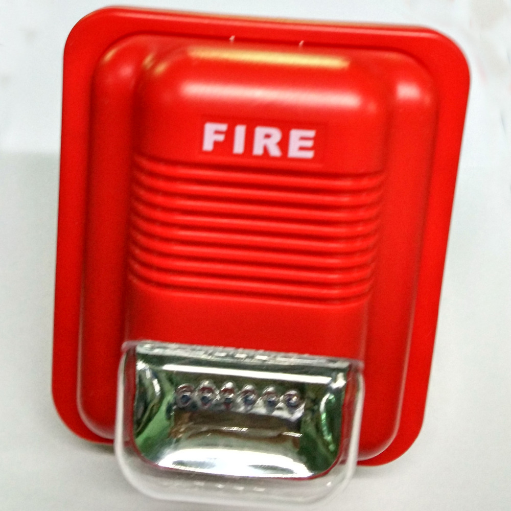 Fire Alarm Siren 2 Wire 24V Sounder Strobe Fire Horn Strobes Sounder Flasher   For Conventional Fire Alarm Control System