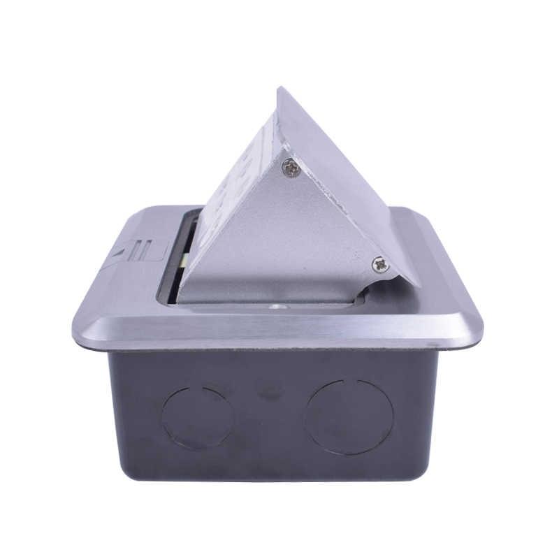 Coswall w całości z aluminium srebrny Panel uniwersalny 2 otwór + 2 otwory + 2 otwór Pop Up gniazdo podłogowe listwa sieciowa