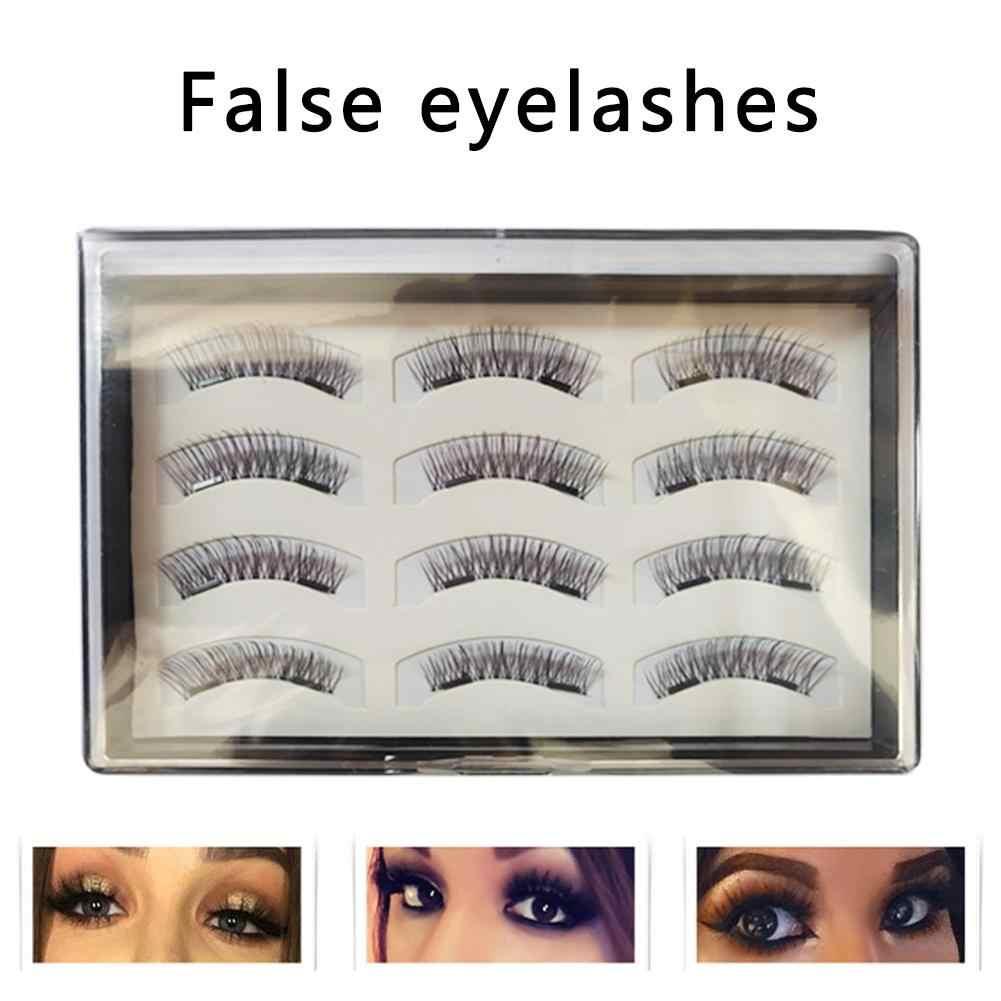 6 pares 3D suave largo Natural grueso maquillaje pestañas de ojos pestañas postizas