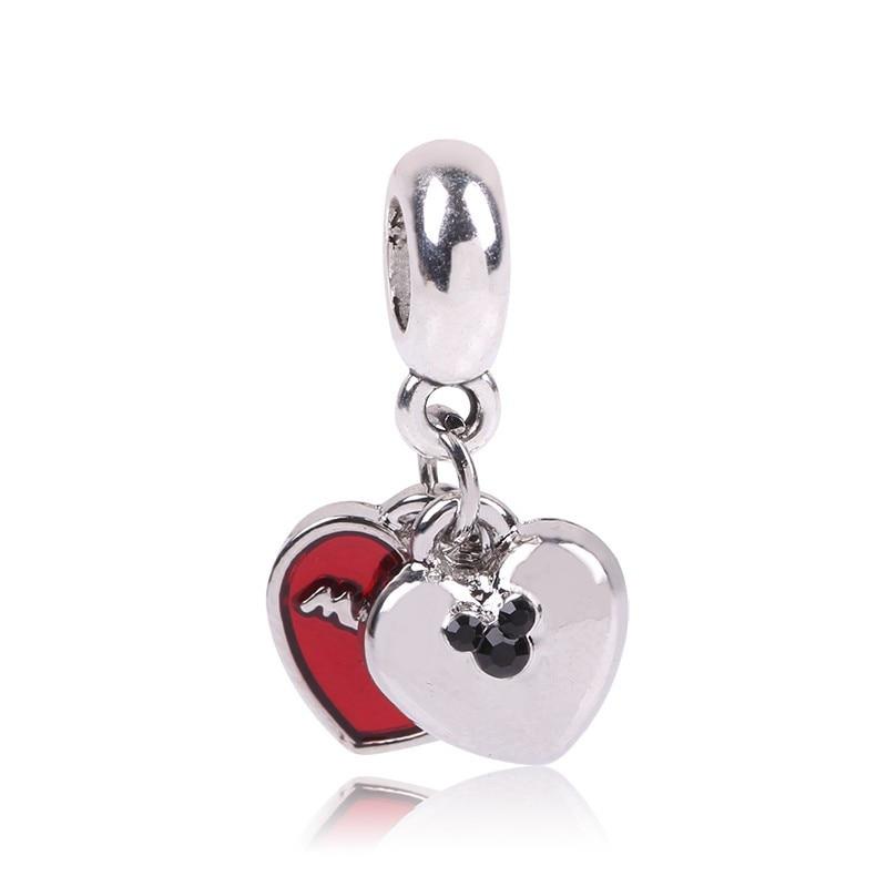 Новинка,,, бусинка из ленты, Микки Маус, сказка, Дамбо, любовь, шарм, подходит для Пандоры, браслет, ожерелье, сделай сам, женское ювелирное изделие, подарок - Цвет: B027