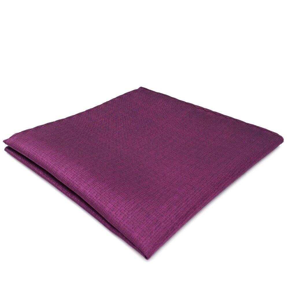 DH11 Solid Purple Mens Pocket Square Wedding Fashion Handkerchief Hanky Large 12.6