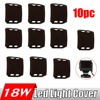 10Pcs Snap On Dust Proof Protective Cover 4x4 Amber Clear Black Red Green Blue Color Shell