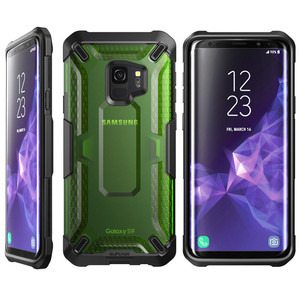 Image 4 - Pour Samsung Galaxy S9 étui support licorne Beetle série Premium hybride pochette de protection en polyuréthane thermoplastique + PC étui de protection transparent couverture arrière pour S9