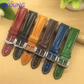 High Quality Genuine Leather Watchband 18mm 20mm 22mm For Mens Women Black/Blue/Red/Brown/ Watch Strap