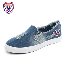 M.GENERAL Unisex 2016 Spring Cowboy Canvas Couple Women Casual Shoes Comfortable Chaussure Femme Zapatos Mujer for Lovers 6818