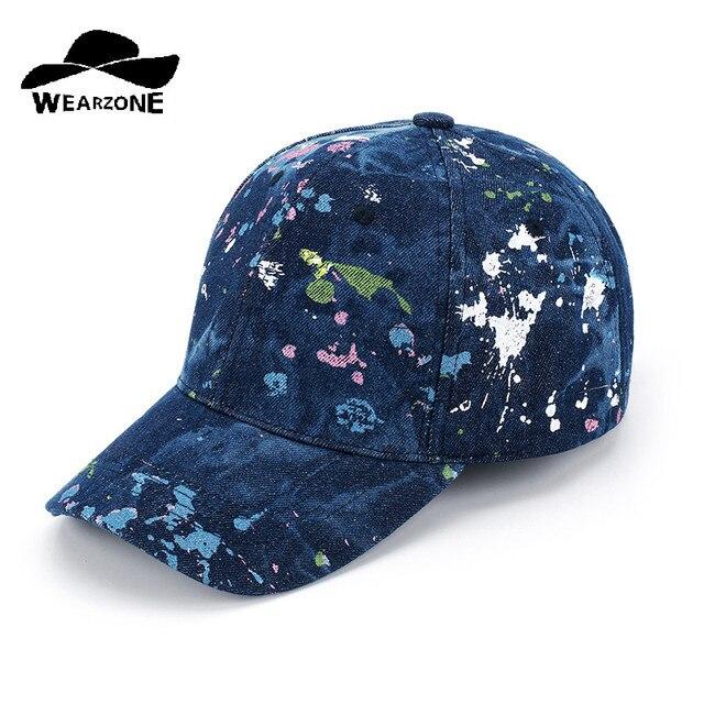 853ecf87ce92 2017 gorra de béisbol para hombres y mujeres Gorras Snapback sombreros de  marca para mujeres visera pantalones vaqueros de mezclilla gorra plana ...