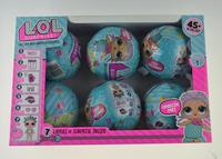 3ps 6pcs LOL Series 1 Surprise Doll Color Change Egg Ball Toys Dress Up Toy Action