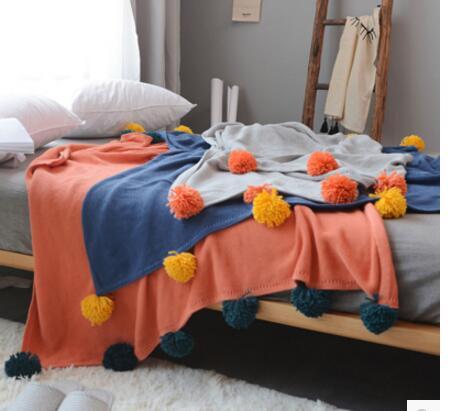 100% coton tricoté couverture canapé/lit/bâche de voiture coton fil couverture canapé couverture couvre-lit