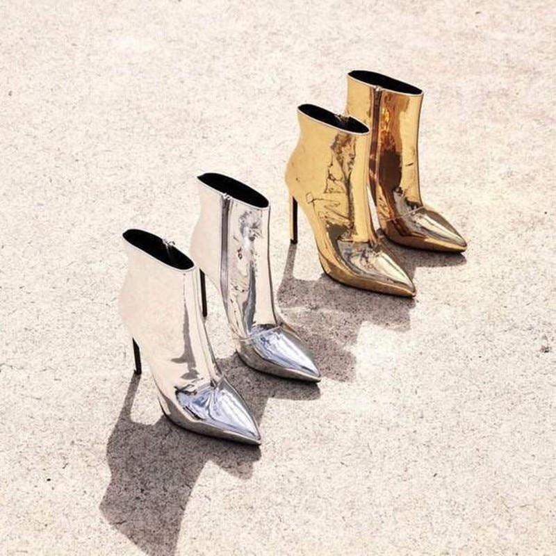 Wanita elegan Pompa Kaki Menunjuk Wanita Hak Tinggi Sepatu Fashion Wanita  musim panas Platform Kulit Paten High Heels Womens Sepatu Lady Partai Sepatu 435fb5e696