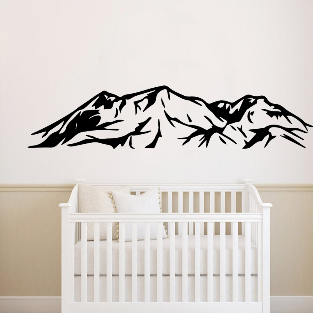 Funny mountains Family Wall Stickers Mural Art Home Decor For Kids Rooms Diy Home Decoration Decal Creative Stickers in Wall Stickers from Home Garden