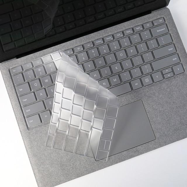 Para Microsoft Surface 1 2 3 Pro 3 4 5 superficie portátil libro transparente TPU laptop teclado Protector piel 10,8, 12,3, 12 13 13,3