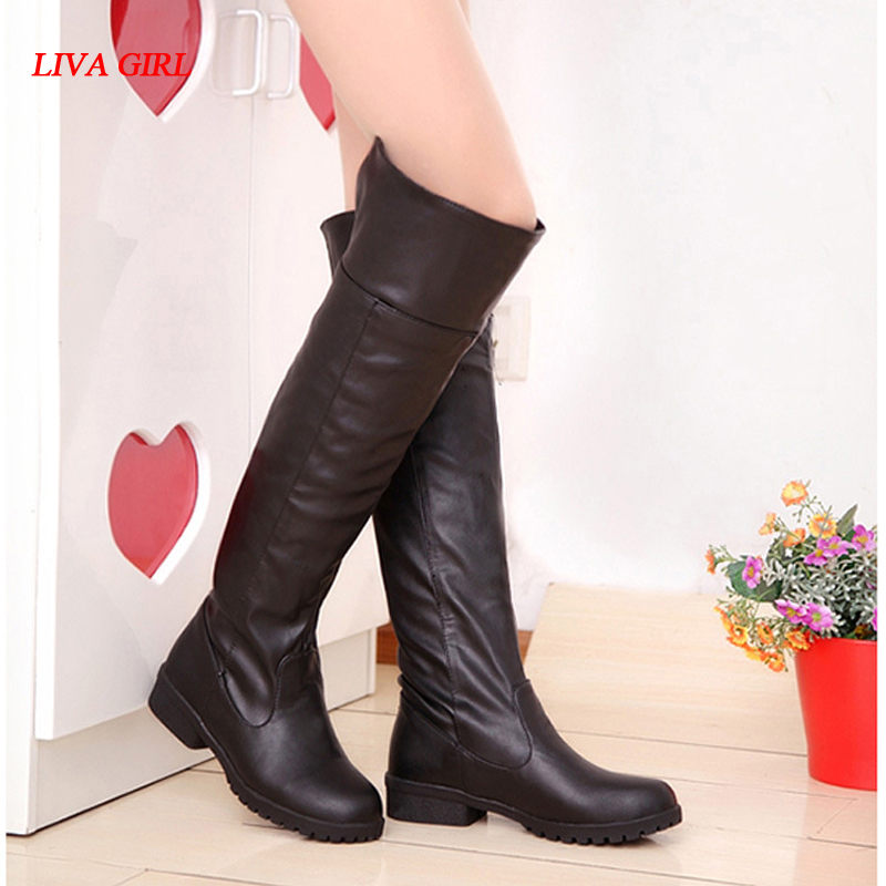 2017 Women Attack On Titan Cosplay Long Boots Shingeki No Kyojin Over-the-Knee Boots Eren Jaeger Ackerman Shoes