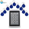 Waterproof Access control system 1pcs FRID Keypad  FRID Reader+ 10pcs FOB Keys Proximity Lock Alarm Door Keypad  Winte