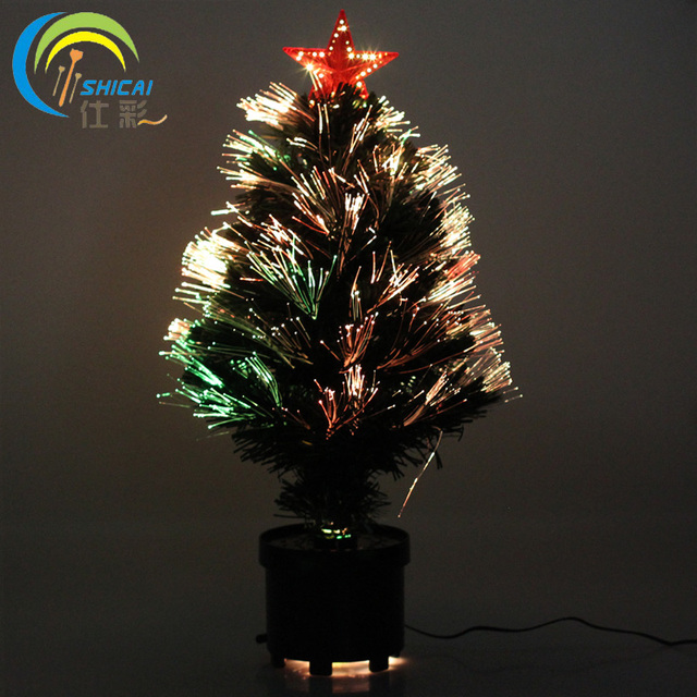 free shipping fiber optic christmas tree 60cm led fiber optic christmas tree star tree colorful changing - Led Fiber Optic Christmas Tree