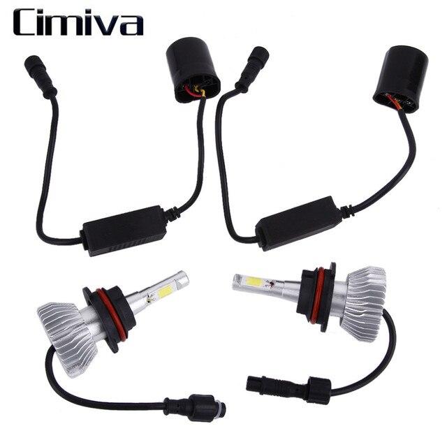6000LMH4 Cimiva 1 Par Chips de LED de Luz 60 W/9004/9007/H13/H1/H7/H3/9005/9006/H11 Farol Kit H/L Feixe de Lâmpadas 6000 K