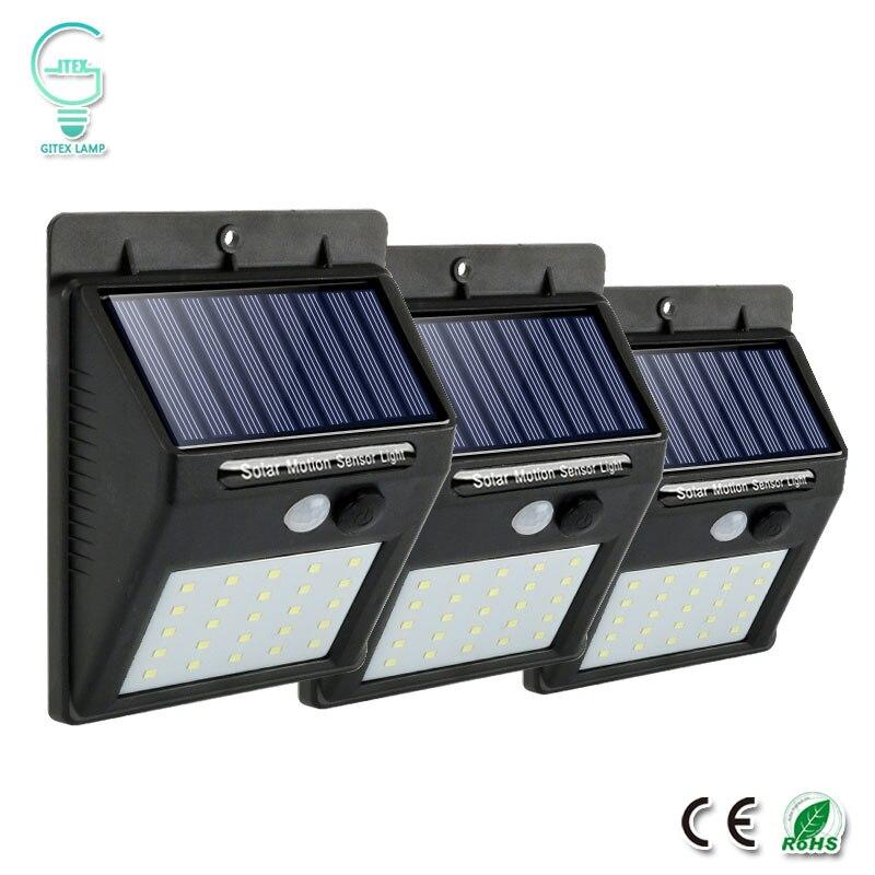Wiederaufladbare Solar Licht 25 30 LED Wasserdicht PIR Motion Sensor Sicherheit Wand Licht Im Freien Notfall Solar Lampe